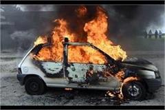 drunken lit the police and congress leader s car