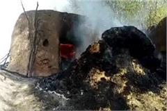 22 houses burnt to ashes 21 goats killed in sudden fire