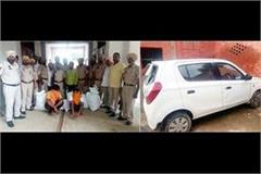 two cars aboard arrested with 1150 intoxicants 1 absconding