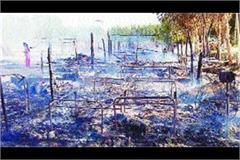 14 slum dwelling laborers burnt in randhawa barreta village