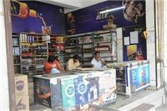 a box stacked by the excise department haryana markka liquor