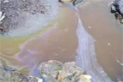 chemical water coming out of the closed industry