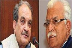 manohar lal khattar react birendra singh statement