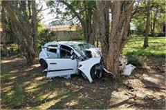 car collided with the tree the alcohol trader died 4 injured