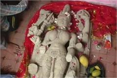ancient statue of goddess durga found in amethi