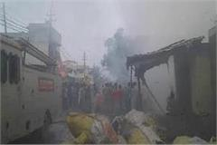fire in plastic warehouse millions of goods worth swah