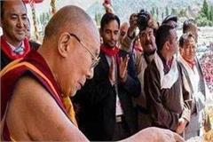 tibetan religious leader dalai lama has cut the cake celebrated 83rd birthday