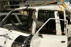 shamli a truck collided with face to face eight children injured