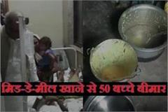 student fall sick after eat mid day meal in damoh