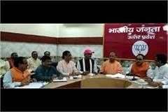 bjp s organization meeting held under the leadership of yogi