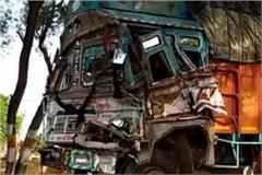 2 trucks collide in two death