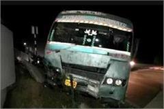 punjab roadways bus climbed divider many passengers injured