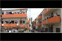 muzaffarnagar police line quarter building saffronise