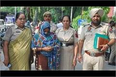 female accused arrested husband absconded