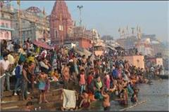 after the lunar eclipse devotees of dip of faith in ganga ghats