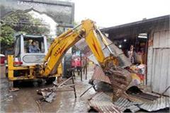 administration removed encroachment in jawalamukhi temple