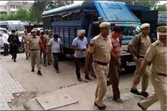 all 9 accused were presented in court in morni gang rape