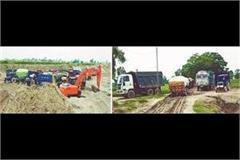 police took 43 vehicles while illegal mining in village bahik fattu