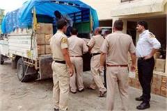 52 boxes of liquor caught from jeep police got success on the barrier