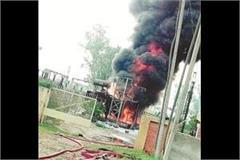 fire in 2 transformer 14 villages immersed in the dark
