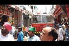 a fire on the third floor of rakhi gift house