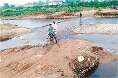bridge leading to 6 villages broke