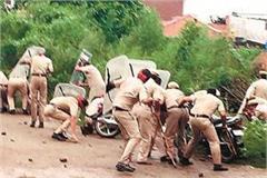 stones thrown on police half dozen injured