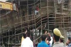 up under construction overbridge collapsed in nh 28 4 people injured