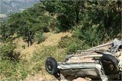 painful incident car in deep ravine