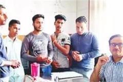 vidyarthi parishad conducts principal of nagrota