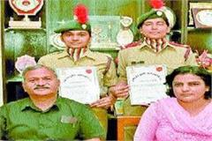 sonepat s cadets sonia harsha s selection in the military camp
