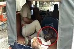 shameful police kept legs over the dead body