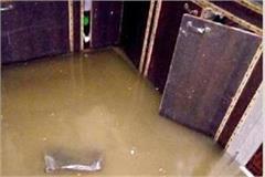rain havoc dozens of homes became pond
