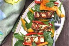 grilled paneer mango salad recipe
