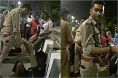 two policemen suspended in lucknow for stabbing autor driver in lucknow