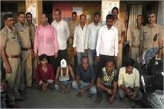 10 gamblers arrested in allahabad