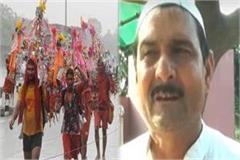 muslim man bring kanwar people beat him not allow offer namaz