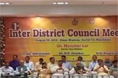 inter zilla parishad meeting in panchkula