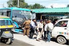 big accident defers by hrtc bus driver