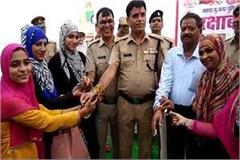 muslim women have to make rakhi tied to police officers