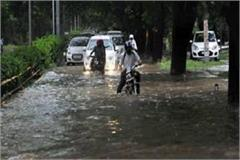 heavy rain in chandigarh and surrounding areas