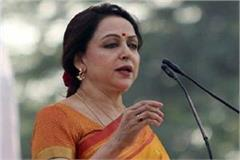 hema malini arrived in mathura on a 2 day tour