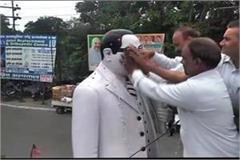 rss thinker wraps on baba saheb idol dalits made purification