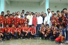 mp football team on rajasthan tour