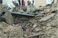 due to heavy rain houses collapsed three injured