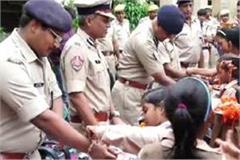 celebration of raksha bandhan in police station