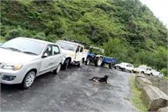 sainj lariji aaut road restored after 15 hours