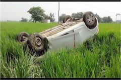 fast speed car uncontrollable overturns in fields three injured