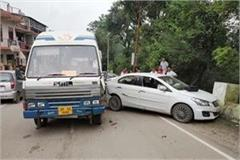 bus hit the car big accident defers