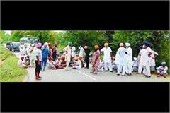 angry farmers pounded jhind vaala bridge